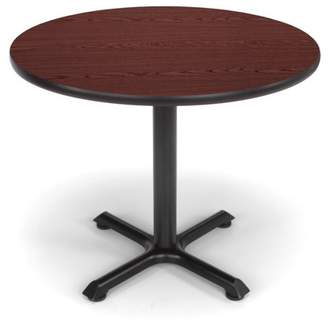 "OFM Model XT36RD 36"" Multi-Purpose Round Table with X-Style Pedestal Base, Mahogany"