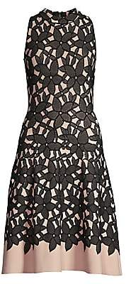 Milly Women's Floral Mesh Jacquard Dress