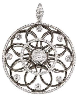Simon G. 18K Diamond Midnight Circular Pendant