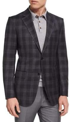 Ermenegildo Zegna Plaid Wool-Blend Two-Button Sport Coat, Charcoal $2,495 thestylecure.com