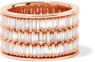 Suzanne Kalan 18-karat Rose Gold Diamond Ring