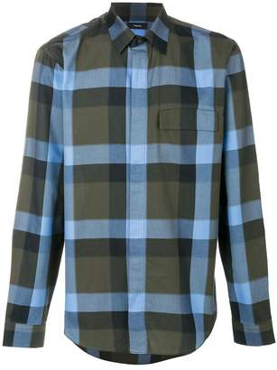 Theory melange plaid clean shirt
