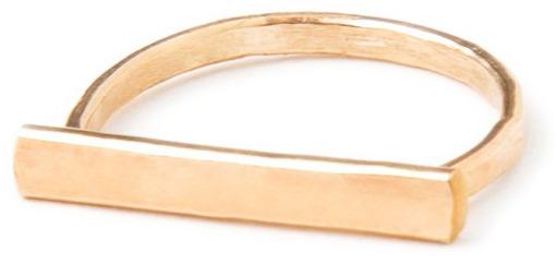 IJA Designs Hammered Bar Ring