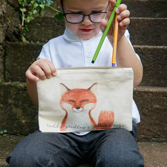 Equipment Sparks And Daughters Personalised Finley Fox Pencil Case