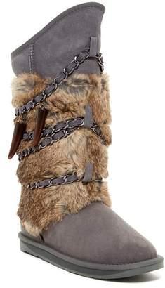 Australia Luxe Collective Atilla Genuine Rabbit Fur & Sheepskin Boot