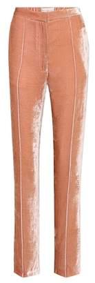 Golden Goose Vanda Varsity velvet trousers