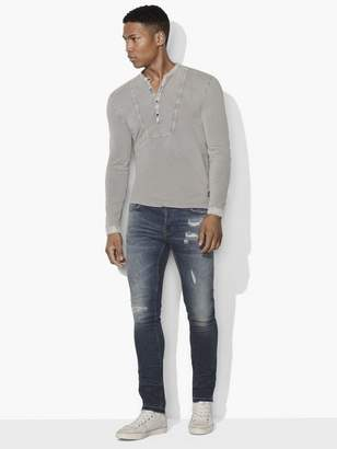 John Varvatos French Terry Bib Henley
