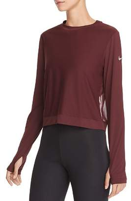 Nike Miler Mesh-Back Cropped Top