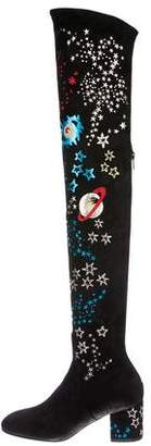 Valentino Astro Couture Over-The-Knee Boots