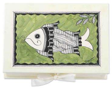 Waterworld Madhubani greeting cards (Set of 8)