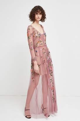 French Connenction Katalina Sheer Maxi Dress