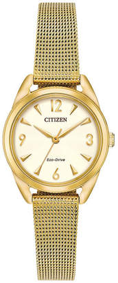DRIVE FROM CITIZEN ECO-DRIVE Drive from Citizen Womens Gold Tone Bracelet Watch-Em0682-58p