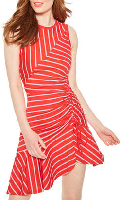 Parker Lucia Striped Sleeveless Ruched Dress