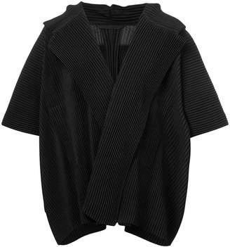 Issey Miyake Homme Plissé draped plissé V-neck tee