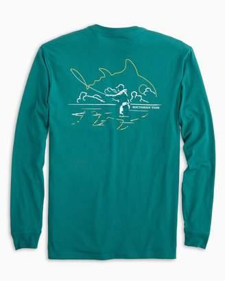 Southern Tide Sunset Fishing Skipjack Long Sleeve T-Shirt