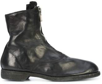 Guidi zip-detail boots