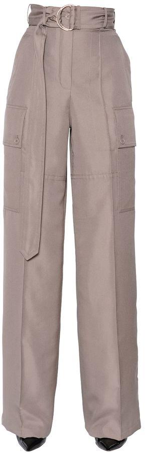 Nina RicciHigh Waist Wide Shantung Pants
