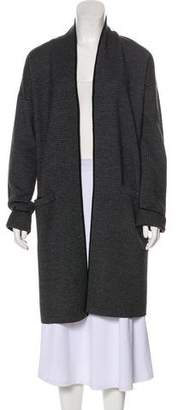 Theory Wool-Blend Houndstooth Coat