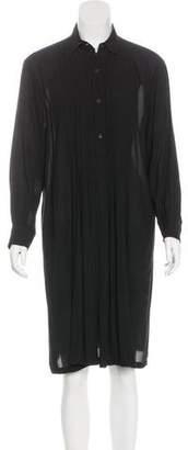 Dries Van Noten Long Sleeve Knee-Length Dress