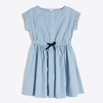 J.Crew Factory Girls' short-sleeve gingham shirt dress