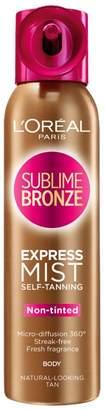 L'Oreal Sublime Bronze Self-Tan Body Mist Medium 150ml