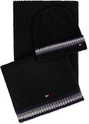 Tommy Hilfiger Men Global Stripe Hat & Scarf Set