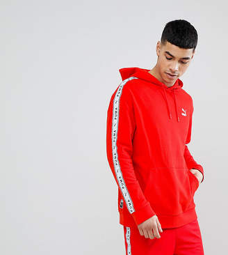 Puma Pullover Hoodie With Taped Side Stripe In Red Exclusive To ASOS