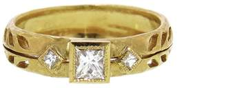 Cathy Waterman Princess Cut Diamond Wheat Ring