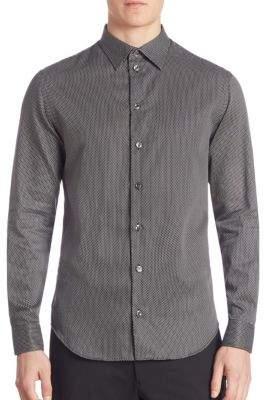 Armani Collezioni Hexagon Neat Sport Shirt