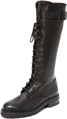 Frye Julie Lace Tall Combat Boots $478 thestylecure.com