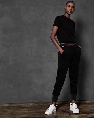 Ted Baker CRISTAI Jersey jogger with lurex rib detail