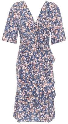 Isabel Marant Brodie floral-printed silk-stretch dress