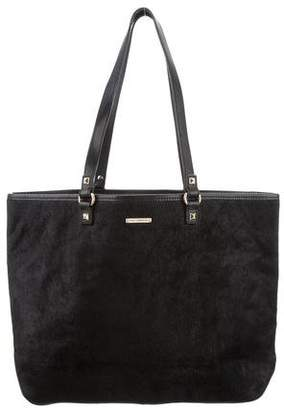 Rebecca Minkoff Ponyhair-Accented Leather Tote Bag
