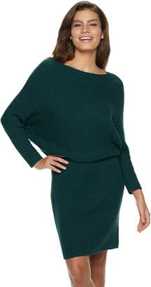 JLO by Jennifer Lopez Dolman Ribbed Sweaterdress