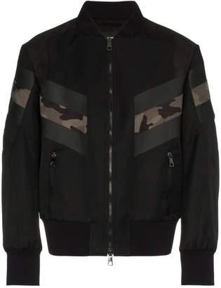Neil Barrett panelled bomber jacket