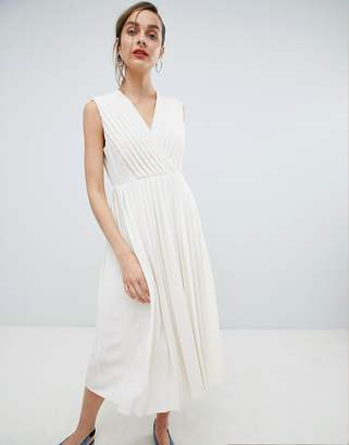 Selected Pleated Wrap Dress