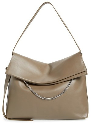 Allsaints 'Large Lafayette' Leather Shoulder Bag - Grey $378 thestylecure.com