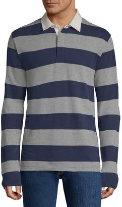 ST. JOHN'S BAY Mens Long Sleeve Polo Shirt