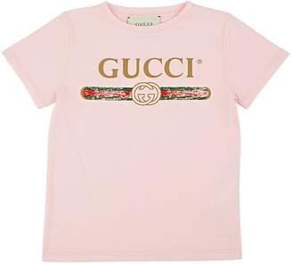 Gucci Kids' Logo-Print Cotton T-Shirt