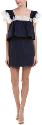 ENGLISH FACTORY Lace-Trim Shift Dress