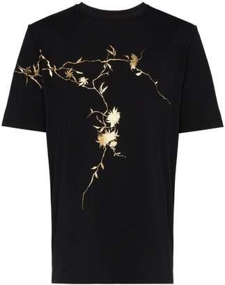 Haider Ackermann floral appliqué t-shirt