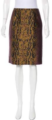 Dries Van Noten Jacquard Pencil Skirt