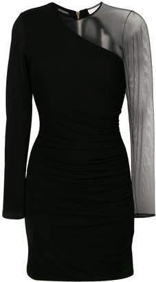 Balmain sheer sleeve mini dress