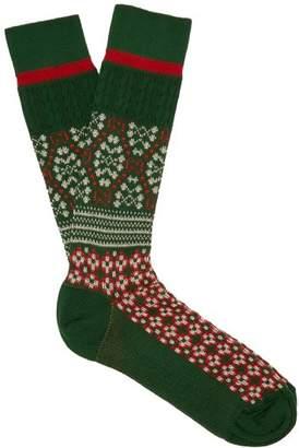 Gucci Stretch Cotton Socks - Mens - Green