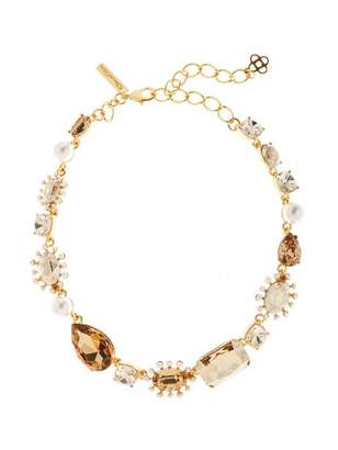 Oscar de la Renta Bold Mixed Jewel Necklace