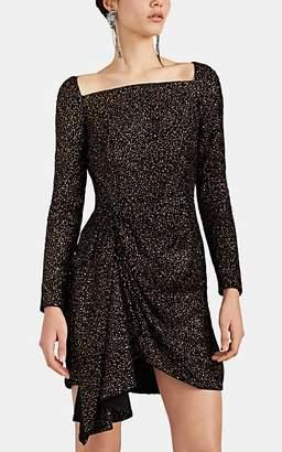 J. Mendel Women's Glitter-Embellished Velvet Minidress - Black