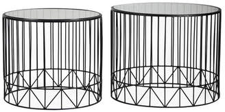 Brayden Studio Pittard Home Garden Patio Accent Metal 2 Piece Coffee Table Set