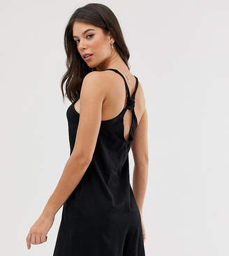 Asos Tall DESIGN Tall minimal romper with knot back
