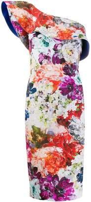 Chiara Boni Le Petite Robe Di floral one shoulder dress