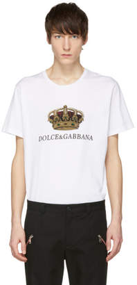 Dolce & Gabbana White Crown T-Shirt